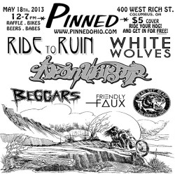 PINNED MAY 18th!!! #pinned #pinnedohio #ridetoruin #neonwarship #whitewolves #beggers @hwyk @clawkeeper @dckareem @triplesixcrew @laurenhotpantz @weaponsofmassconstruction @milkbarboutique