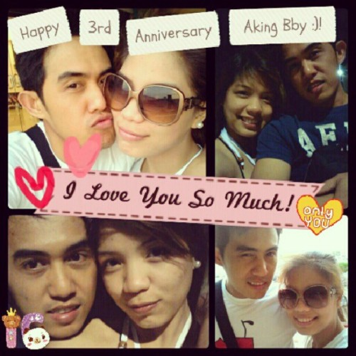 Happy 3rd Anniversary My Bby :')!! I Love You So Much!! Muaahh!!