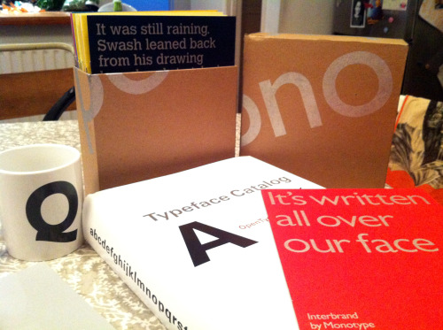Cool goody bag from the lovely gang at Monotype, @neilayres et all, cheers guys!