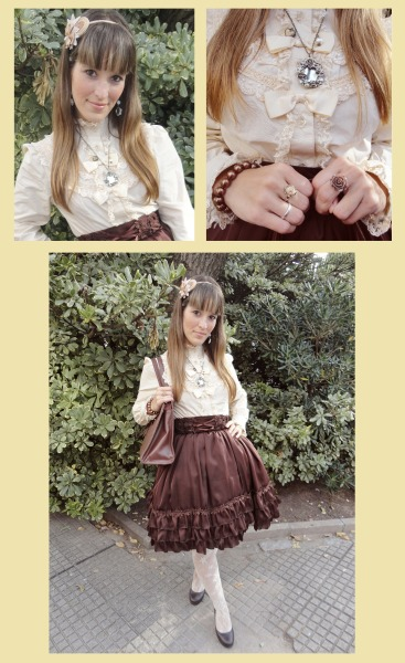 fuckyeahbodyline:  Classic Coordinate with my Blouse from Bodyline :3
