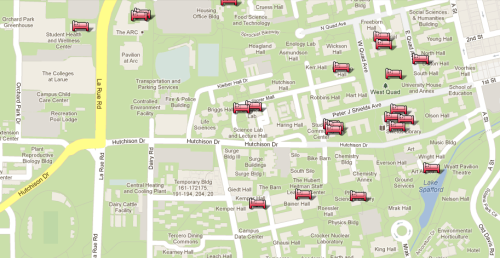 NAP MAP! All the best spots to nap on the UC Davis campus.
