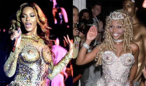 defectivebarbz:  Queen Bey & Queen B   The Blonds & Viv Westwood. #GLAMLIFE