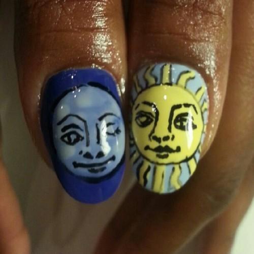 Elemental nails done for Condola Rashad @phloella