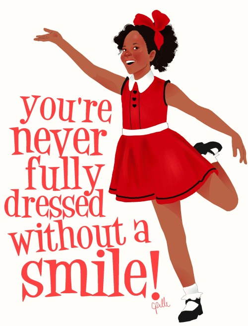 celestedoodles:  Quvenzhané Wallis as Annie  you're never fully dressed without a smile!