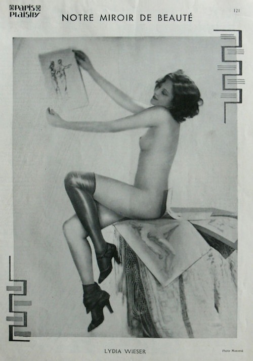 Studio Manassé- Lydia Wieser, le mirroir de la beauté, 1932-35, from Paris Plaisir Magazine