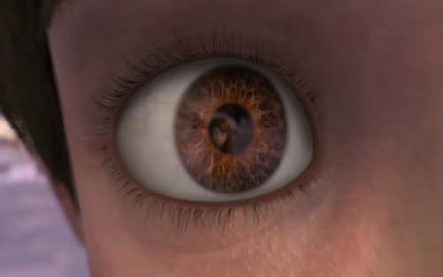 redducto:  DreamWorks… This is one of the most beautifully rendered eyes I have ever seen. (There's this kid inside me wanting to see it blue instead)