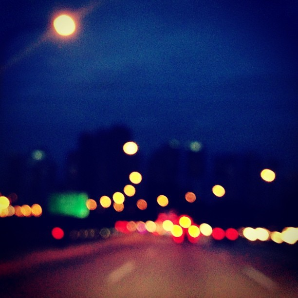 #Highway #Bokeh - #city #travel #street