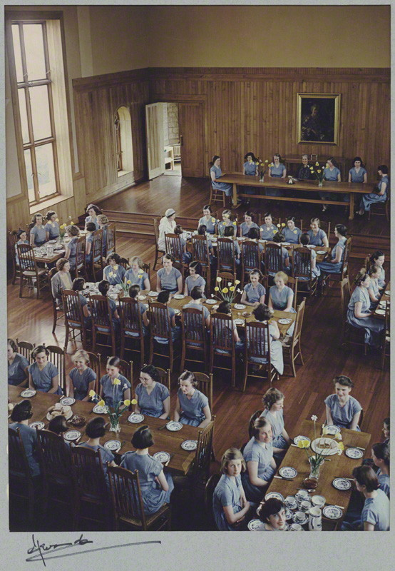 mpdrolet:  The Refectory of St. James' School, Malvern, c. 1934 Madame Yevonde