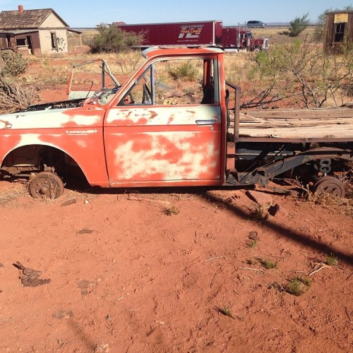Ghost town truck  (at Cuervo Ghosttown)