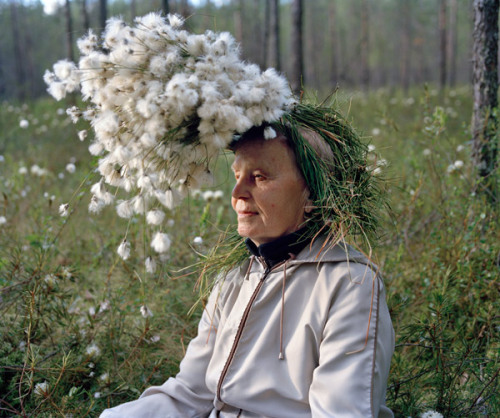 Old Finnish People With Things On Their Heads