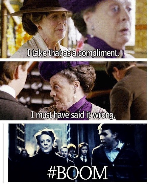 assbutts-and-whatnots:  Can we all just agree that Maggie Smith is amazing….