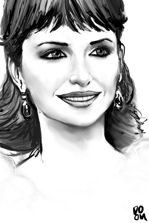 Penelope Cruz drawing made in Manga Studio 5