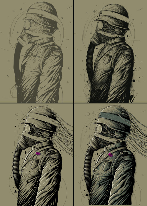 "A quick process for my ""Dark Officer"" artwork, up for grabs at Design by humans Check out the full process at Behance: Dark Officer Design by humans is having 25% on everything. Amazing designs awaits you. LINK: Design by Humans"