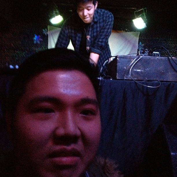 #tbt making a dumb face w/ @giraffage in da back