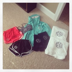 If it ain't movin, monogram it! Thanks Mama 💗
