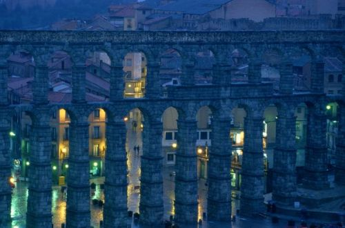 As we approach this heatwave in Philadelphia I find myself looking longingly at photos of cool colors as it is a cheaper alternative to buying an air conditioner. - Molly National Geographic:  The Roman aqueduct in Segovia, Spain, is pictured at twilight. Dating to the first century A.D., the well-preserved structure is listed as a UNESCO World Heritage site.