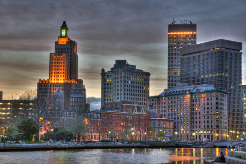 View from South Water Street, Providence, Rhode Island. HDR compiled from three exposures.