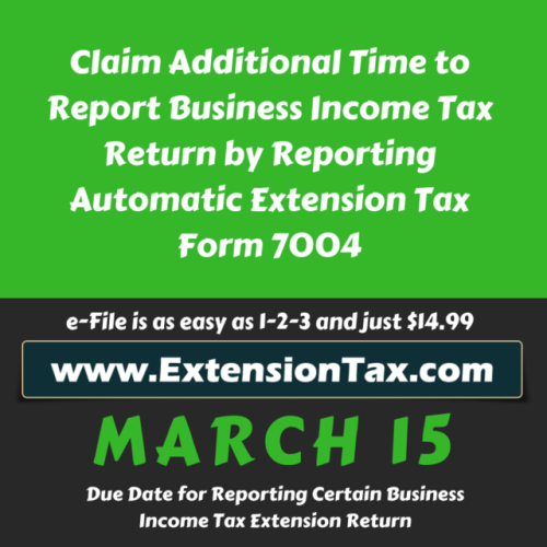 #TaxPayers can Legally Postpone their #Business Income #TaxDuedate by E-filing #Form7004 through #Extensiontax_com - An #IRS Authorized #Efile_service_provider for efiling #ExtensionTax forms https://blog.taxexcise.com/e-file-for-an-extension-on-your-business-income-tax-today/