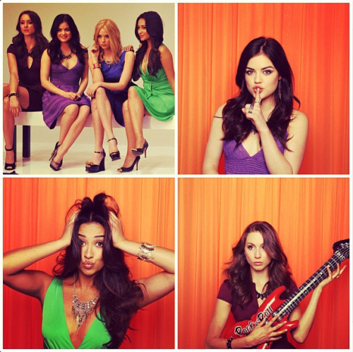 We squee a little bit every time we see pictures of the Pretty Little Liars!