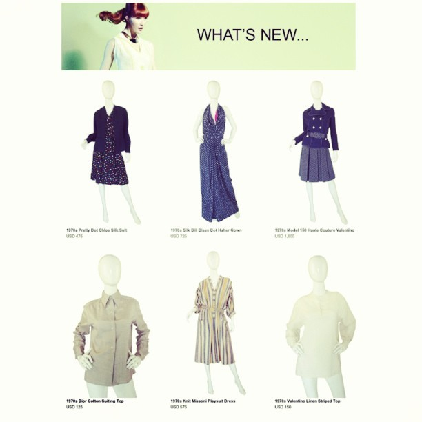 More new vintage couture! #chloe #billblass a spectacular true haute couture @maisonvalentino #valentino day ensemble - model 150 , #dior #missoni