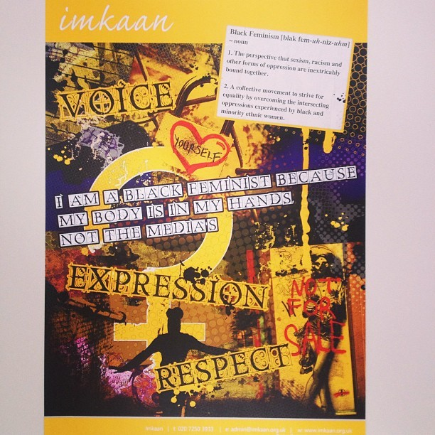 Check out our newest poster on black feminism! Available to buy at www.imkaan.goodsie.com