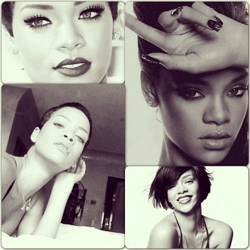 #rihanna #bad #girl #black #and #white #by_me #beautiful #gorgeous #nails #eye #liner #eye_liner #short #tall #hair #lips #lipstick #nice #smile #rihanna_navy #awesome #q8 #kuwait  @badgalriri ياخييي والله جميله😍❤