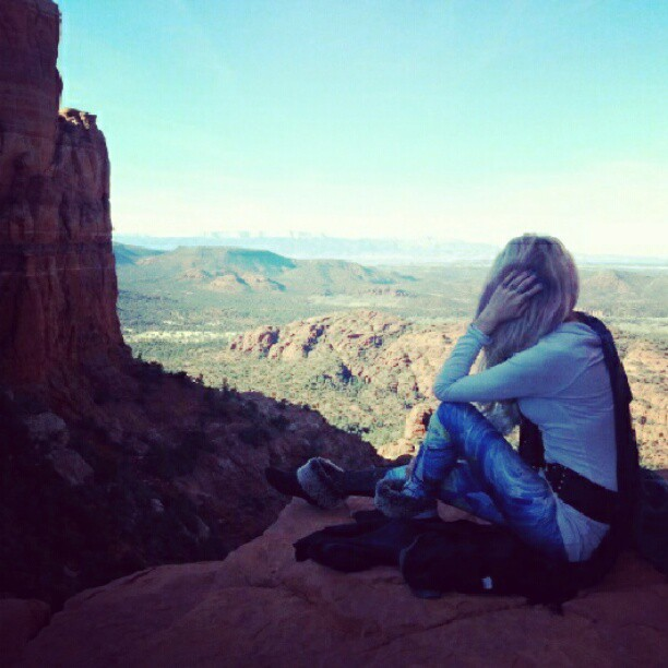Enjoying the view at Cathedral Vortex.  #Sedona #shifthappens #vortex #sacred #naturemoment #natural
