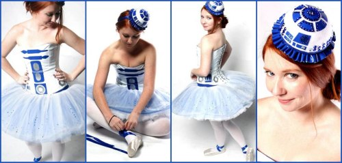 droidandunicorn:  Thanks to Kristina Leigh for sharing my Artoo Tutu on Sexy Star Wars Girls today! Check out the page for more lovely ladies from a galaxy far, far away.