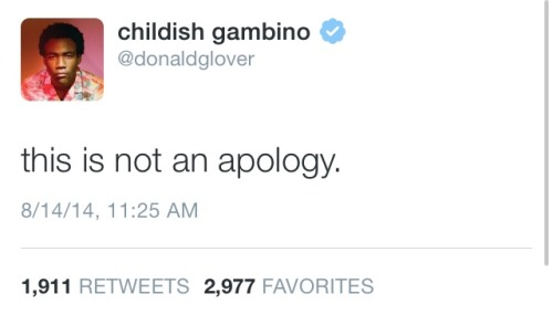 actionables:  philanthropy-lite:  Donald Glover/Childish Gambino's followup to his tweets from last night about Ferguson  In case people haven't seen it, this is the poem he is talking about.
