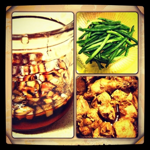 Hey what's cookin', good lookin'? #marinade #greenbeans #chickenadobo