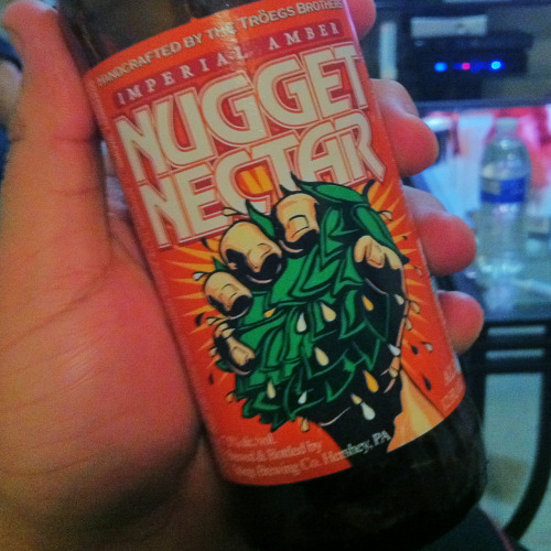 "Troegs Nugget Nectar is for my hop heads, no doubt. It's an ""Imperial Amber"" and really does cover both of those styles well. Snatch it up when you see it."
