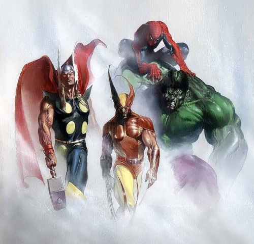 thefandomzone:  MARVEL SUPERHEROES by Gabriele Dell'Otto