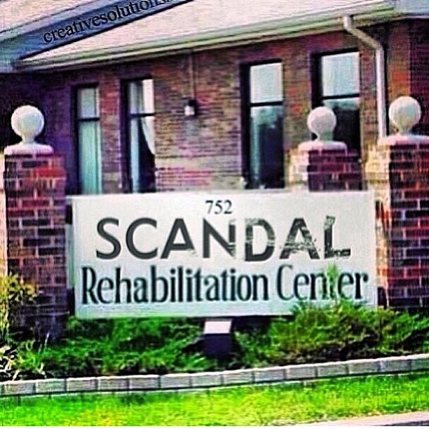 onlyoneelangeni:  Officially checked in til September lol #scandalseasonfinale #scandal #repost #rehab #itsreal