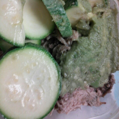 That was #paleo  meal 1: pork, guacamole and more #squash