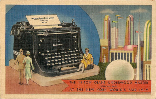 In the years before World War II, Underwood built the world's largest type writer in an attempt to promote itself. The typewriter was on display at Garden Pier in Atlantic City, New Jersey for several years and attracted large crowds. Often, Underwood would have a young woman sitting on each of the large keys. The enormous typewriter was scrapped for metal when the war started.[3]
