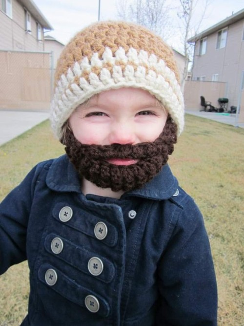 nevver:  Bearded beanies for kids