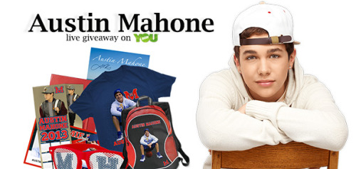 "younowblog:  Join Austin Mahone for his live chat and giveaway this Tuesday, April 2nd, from 6-7pm EST / 3pm PST on YouNow.com/shows. Austin will be giving away ""Mahomie Senior Fan Club Memberships"" to lucky fans.  In order to qualify for the Mahomie Senior Fan Club membership giveaway, simply: Click here and log in to Shopcade Follow Austin on Shopcade Show up to Austin's live show on Tues, April 2nd from 6-7pm EST on YouNow.com/shows The Mahomie Senior Fan Club membership package consists of: Access to the online fan club, pre sale tickets & VIPs Access to exclusive contests, content and meet and greet giveaways Mahomie High digital ID card, hall pass, and notebook with welcome letter Exclusive Fan Club video chats Signed exclusive Fan Club poster Mahomie High bookmark, T-shirt, sunglasses, and locker calendar Mahomie High backpack For more info about the Mahomie Senior Fan Club merch, click here."