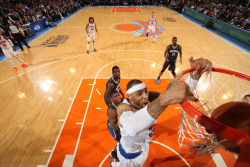nba:  Kenyon Martin of the New York Knicks dunks against the Orlando Magic on March 20, 2013 at Madison Square Garden in New York City.   (Photo by Nathaniel S. Butler/NBAE via Getty Images)