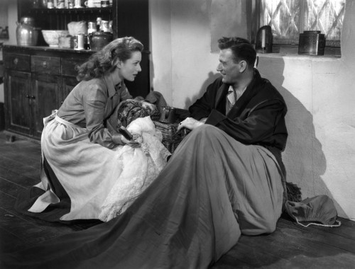 John Wayne and Maureen O'Hara in The Quiet Man.  I have a lot of love for The Searchers.  But The Quiet Man is the best John Ford/John Wayne film, bar none.  While this is not entirely due to the presence of Ms. O'Hara, she's got a lot to do with it.  Her chemistry with John Wayne is riveting, but that chemistry appears in most of their films together.  The Quiet Man, however, has the elegance of a simple story, told well.