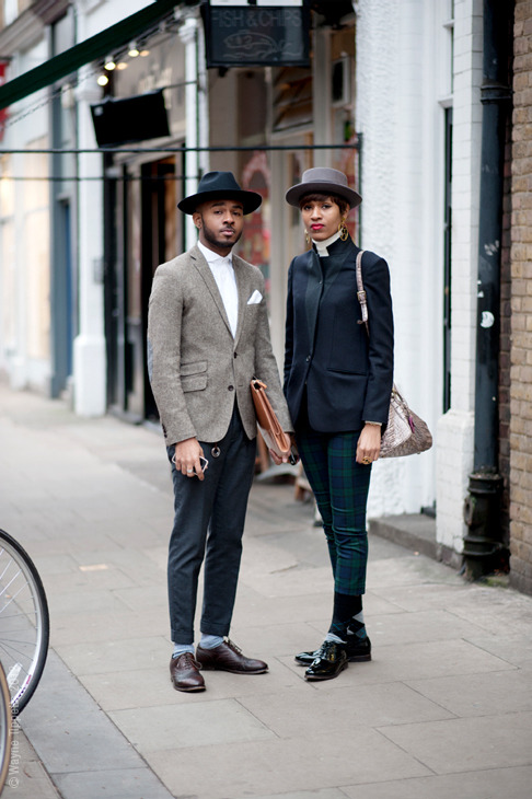 garbageandflowers:  urbanemenswear:  Menswear designers Donya and Martell Cambell.   yes