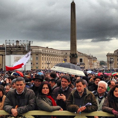 instagram:  Thousands Gather at the Vatican to Celebrate Selection of Pope Francis  Earlier today in Vatican City, thousands gathered to witness the selection of a new pope. The election came on the first full day of the cardinals' conclave in the Sistine Chapel, and a week after Pope Benedict XVI's final general audience. Argentina's Cardinal Jorge Mario Bergoglio, the former archbishop of Buenos Aires, addressed the crowd after his selection and will take the name Pope Francis.  Instagrammers were there capturing scenes from the announcement today. To view their photos, visit the Città Del Vaticano, Piazza San Pietro and Vatican City location pages.