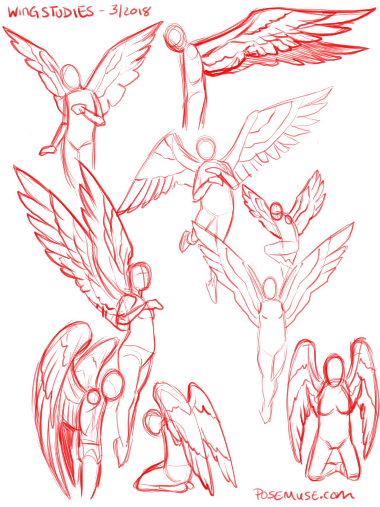 Pose Reference Posereference One Of My Asks Was About Winged