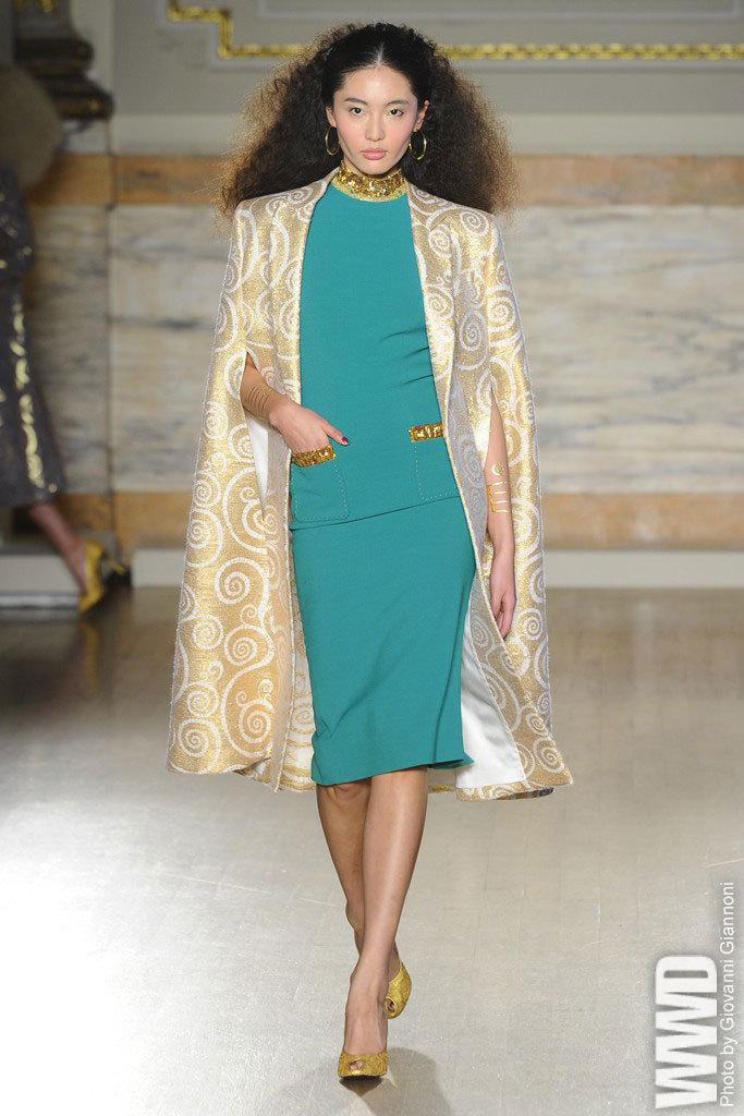 womensweardaily:   L'Wren Scott RTW Fall 2013   I LOVE this outfit. So over-the-top but I would definitely wear it.