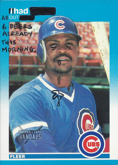 riptomylungs:  baseballcardvandals:  ready for work.  same