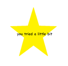 "letmelarryyou:  chuchi-voo:  ive compiled a series of ""you tried"" stars for you to use in various occasions  This is my gift to Modest! Management"