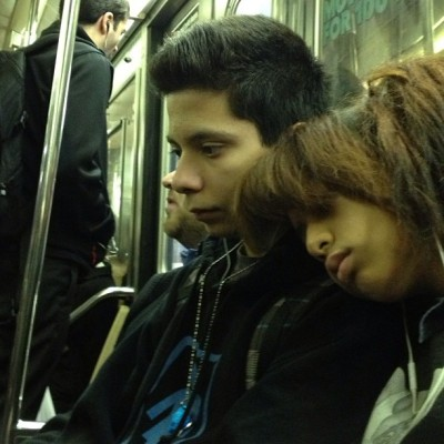 Subway Series #subway  #subwaycar  #travel  #train  #transportation  #couple #male  #female  #students #sleepy # sleep #rush hour