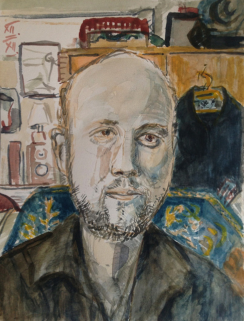 Keith (JKPP), watercolor 21x28cm, dec/2012  #berndblacha on Flickr.