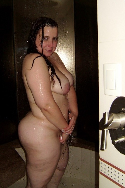 Big ass inside shower