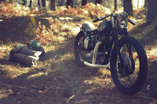 lostinamerica:  Motorcycle camping is on my bucket list.  Ours, too.