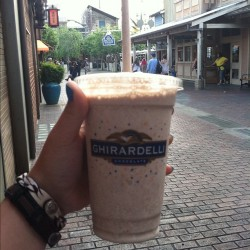 Carmel quake shake from Ghirardelli in California Adventure!  (at Ghirardelli Soda Fountain & Chocolate Shop)